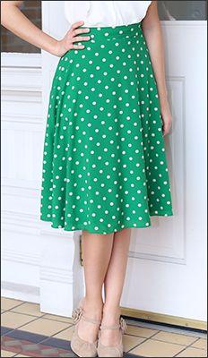 Midi Polka Dot Skirt