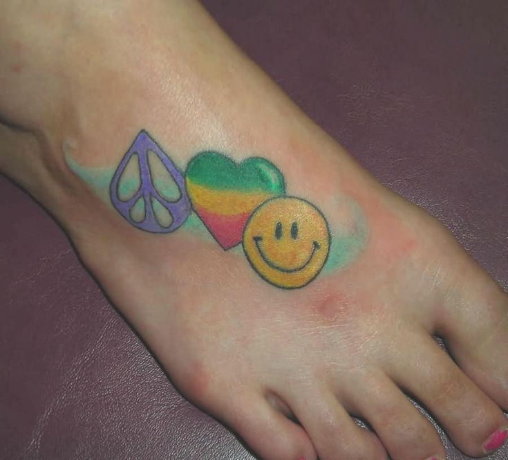 40 best images about happy symbol tattoos on pinterest for Peace love happiness tattoo