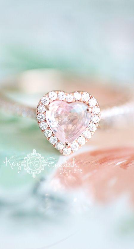 HEART Rose Gold Engagement Ring - New Jersey Wedding Photographer Kay English