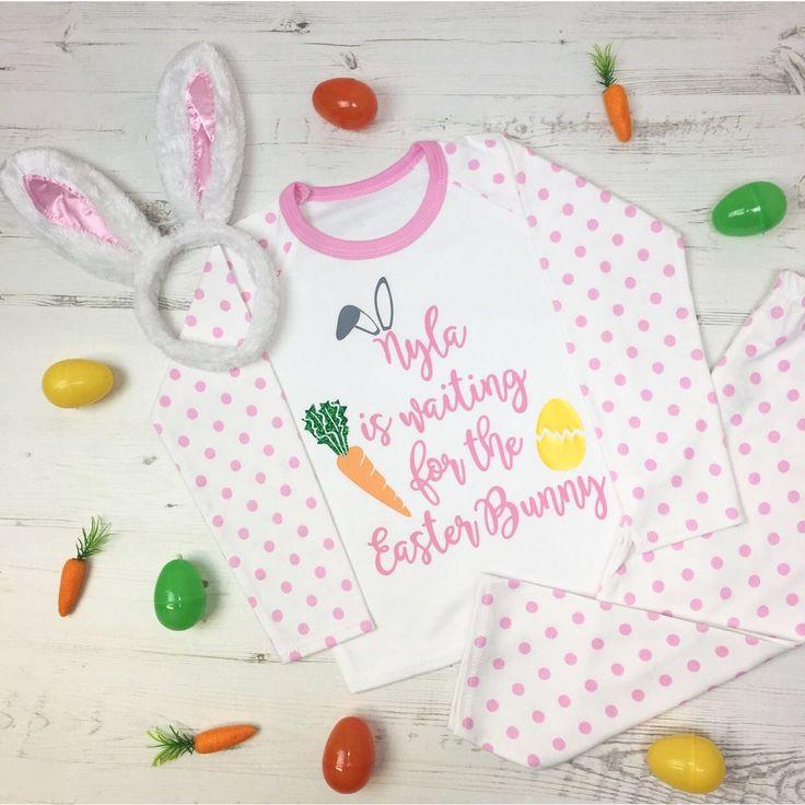 Personalised Easter Pyjamas - Childrens Pyjamas #dollymixboutique #eaterkidsclothes #mom #mommy #daddy #dad #mum #mummy #parents #kidsfashion #kidspyjamas