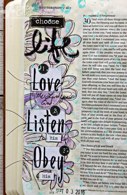 Triple the Scraps: Journaling {Bible} Deuteronomy 30:20
