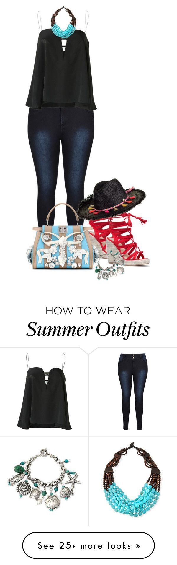 Summer Outfits : Tank & jeans by fiery555 on Polyvore featuring Kenzo Seafolly Viktoria Hayma