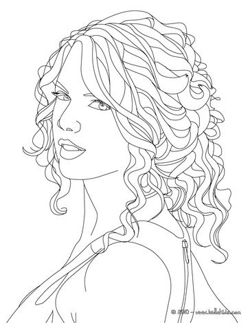Free TAYLOR SWIFT coloring pages available for printing or