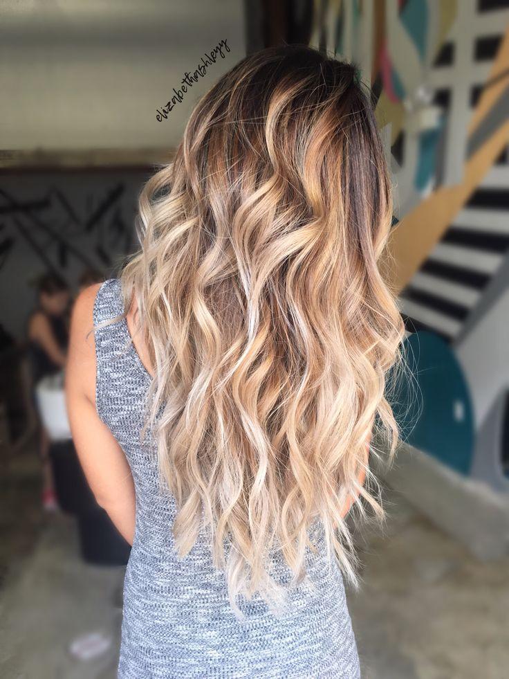 Iced macchiato hair | balayage | balayage ombré | brown to blonde balayage | brunette balayage | Hispanic girl hair | elizabethashleyy