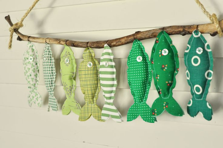 Green Fish EcoFriendly Wall Decor ... by DarlingSavage on Etsy