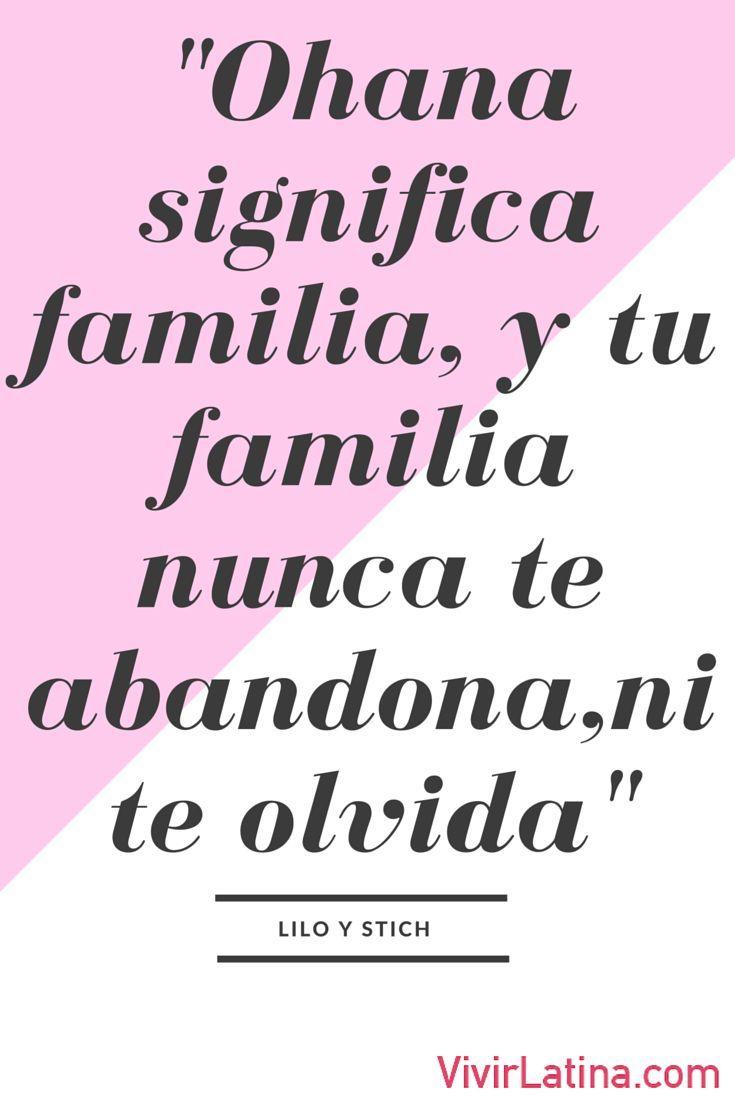 Frase del da Johana significa familia y tu familia nunca te abandona ni