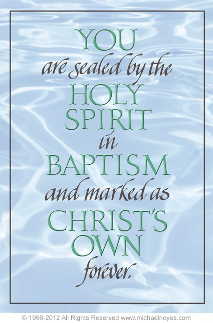 Baptism & Holy Spirit - make no mistake, I BELONG TO JESUS!