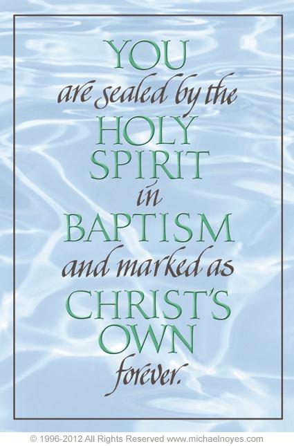 Baptism & Holy Spirit - make no mistake, I BELONG TO JESUS!