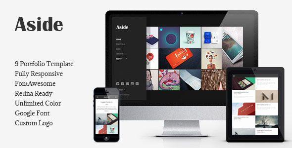 Aside - Photo Portfolio Sidebar HTML Theme Site Templates / Creative / Portfolio by bwsm
