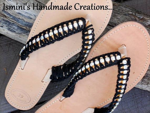 Handmade Greek Leather Sandals by IsminisJewelryStore on Etsy, €57.00