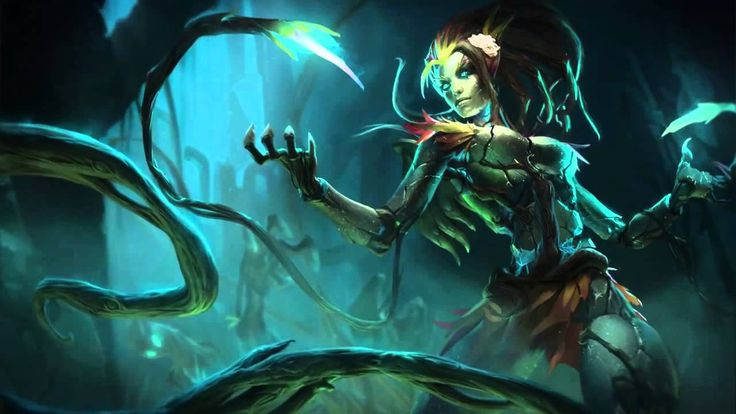 Haunted Zyra (Harrowing 2013) League Of Legends Login Screen With Music(...
