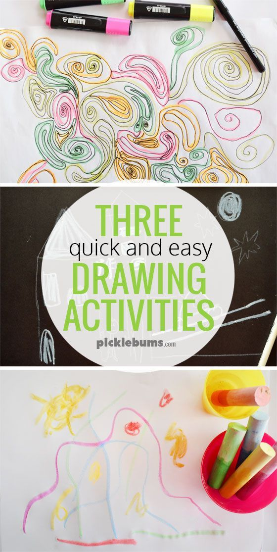 Three quick and easy drawing activities - try one of these when you need to keep your kid busy!