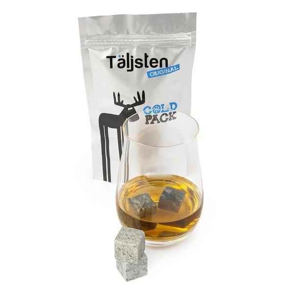 8 pierres à whisky scandinaves avec coldpack Täljsten