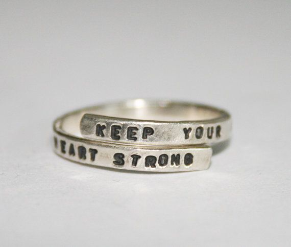 Ben Howard handstamped Silver Lyric Ring 'Keep by BonnyandRead, €29.00 Love this... the phrase means a lot to me