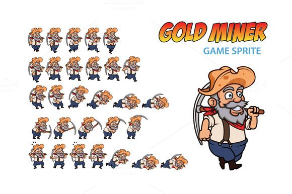 Gold Miner Game Sprite - Illustrations - 1