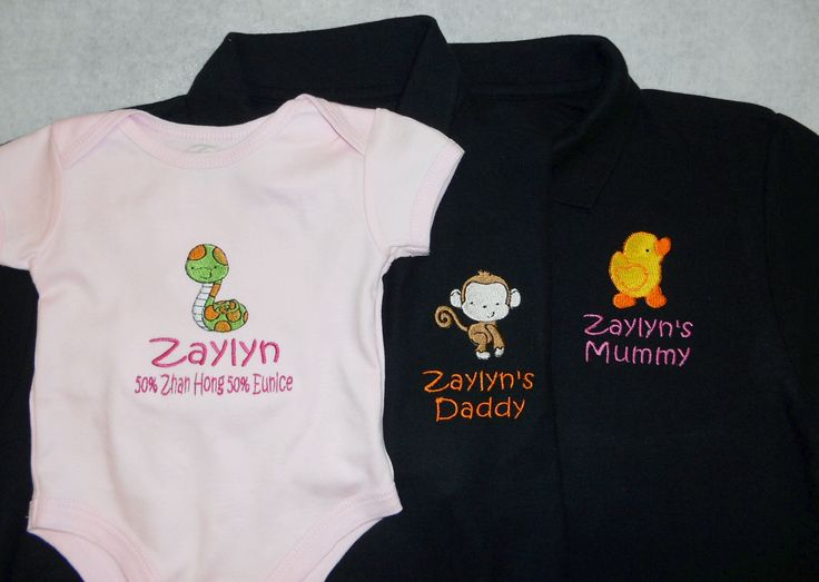 Animals Lovers Embroidery Shirt - Personalised Polo Shirt and Baby Romper with embroidery by ThatCornerShop. #personalisedgifts #birthdaygifts #giftsforhim #giftsforher #giftideas #embroidery