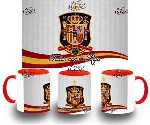 TAZA SELECCION ESPAÑOLA tazze tasse coupe mug españa mundial futbol 2014 colores | eBay