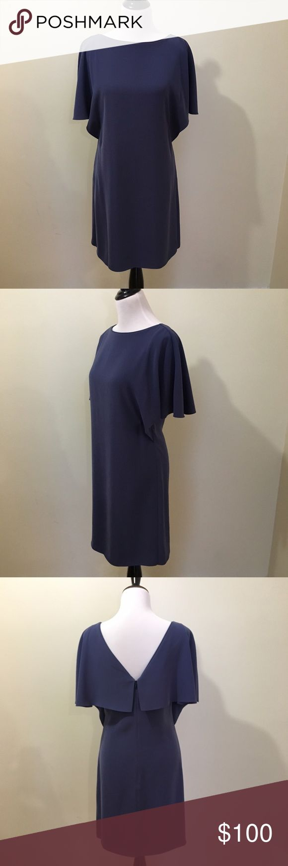 REISS Dress Beautiful Reiss dress with flutter sleeve and back, great for work or a special occasion. 100% polyester but fabric feels very luxurious. Reiss Dresses