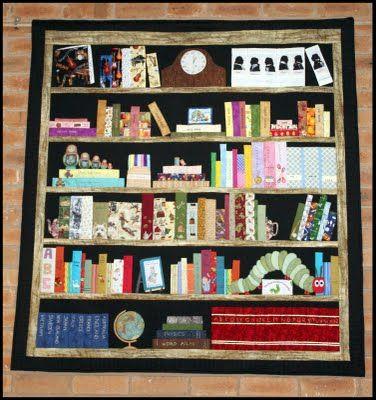 35 best Bookcase Quilts images on Pinterest | Bookshelves, Book ... : quilt bookshelf - Adamdwight.com