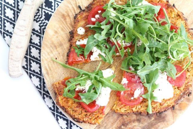Zoete aardappelpizza met bodem van aardappel en havermout – SKINNY SIX