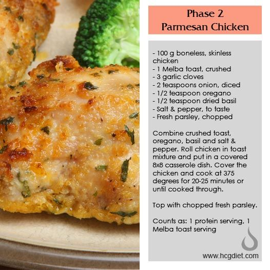 Phase 2 Parmesan Chicken -