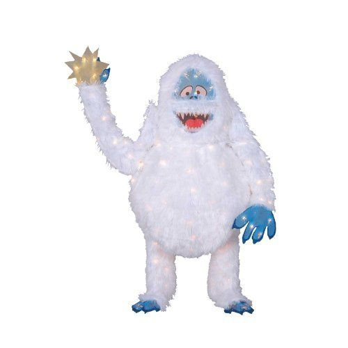 56 39 39 150 light abominable snowman with star christmas for Abominable snowman yard decoration