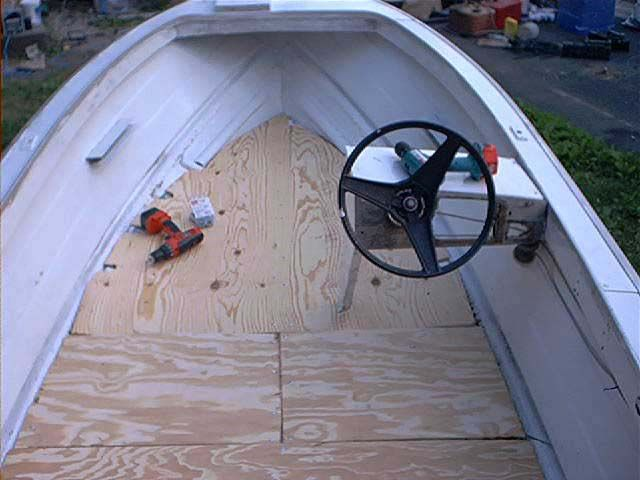 how to - replace flooring in a boat Summer 2012