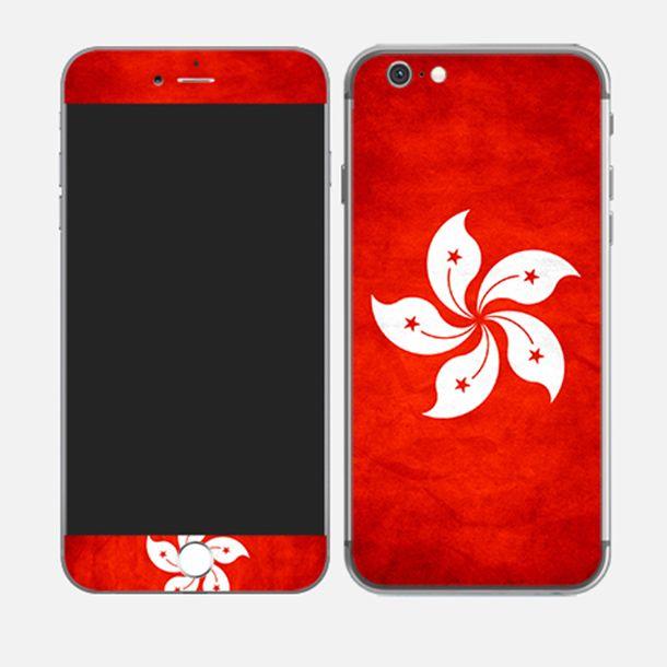 #iPhone6plus Flag of Hong Kong #china http://skin4gadgets.com