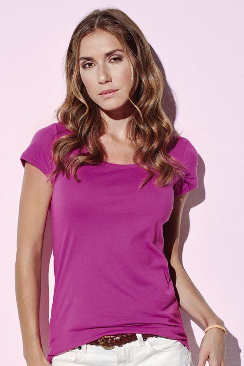 Tricou damă Megan Stedman Stars din 100% bumbac ring spun pieptănat #tricouri #stedman #personalizate #imprimate #brodate
