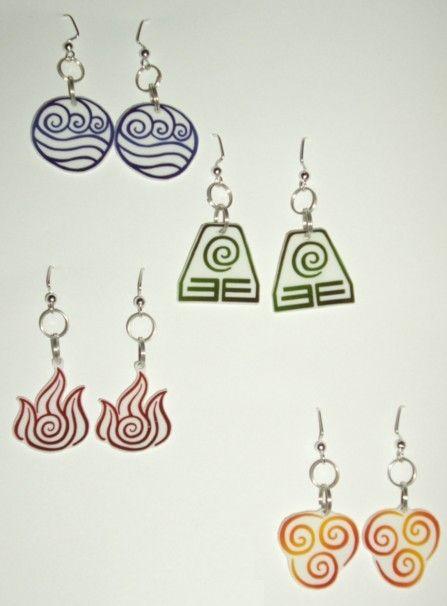 Avatar: 4 Nation EarringsNational Symbols, Jewelry Avatar, Earrings Geek, Jump, Nerdy Earrings, Fire National, National Earrings, The Four National, Avatar Fire