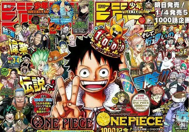 A Clearer Version Of The One Piece Chapter 1000 Issue Cover Onepiece Manga Anime One Piece One Piece Chapter Manga Covers