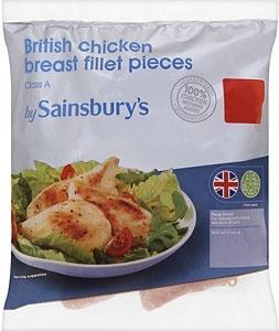 Sainsbury's British Chicken Breast Fillet Pieces (500g)