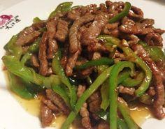 Ternera con pimientos estilo chino
