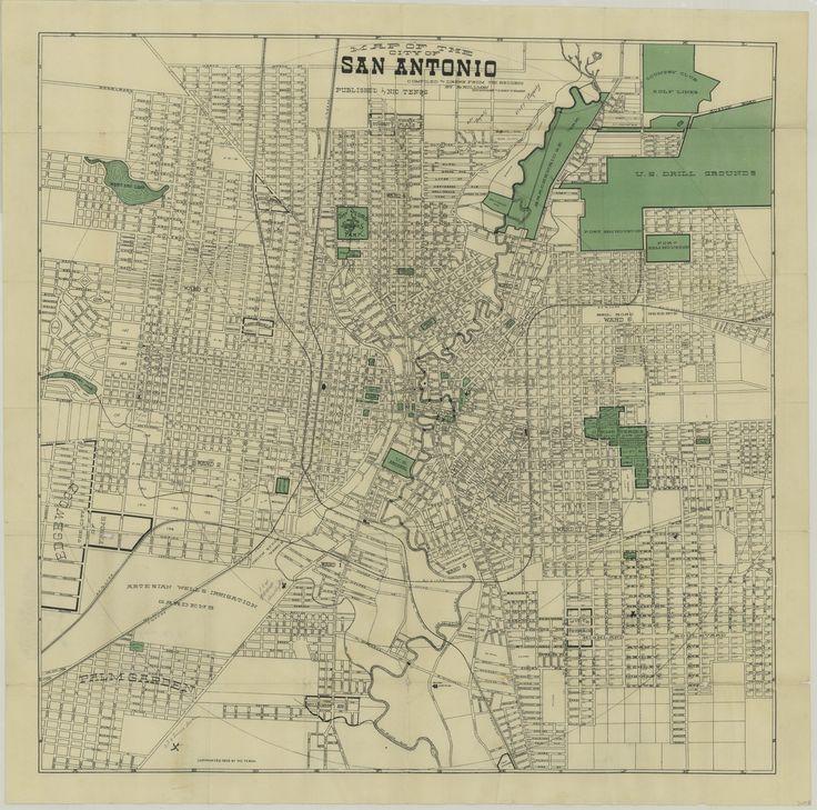 1910 map of san antonio, texas | Home | Ca. 1910 Design in ...