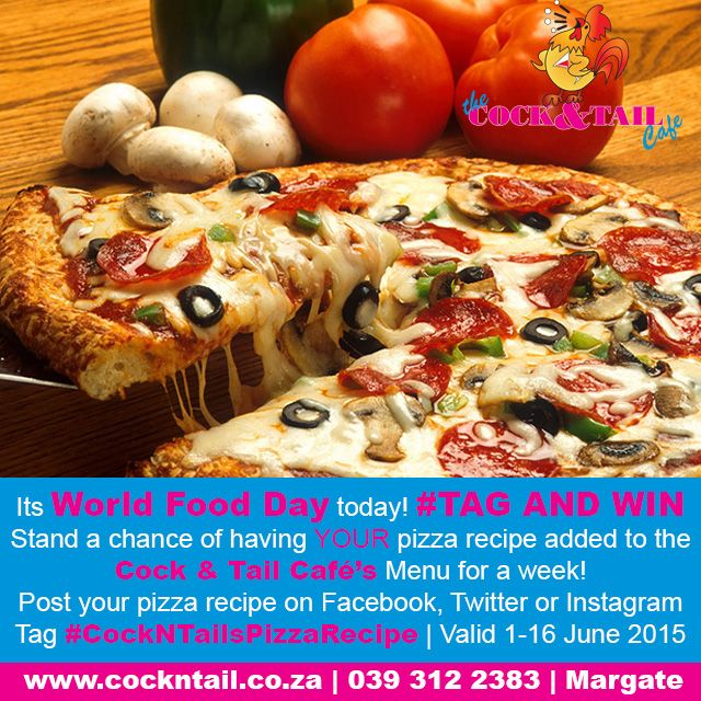 Stand a chance of having YOUR pizza recipe added to The Cock & Tail Café's menu for a week! http://bit.ly/1V7iCgz