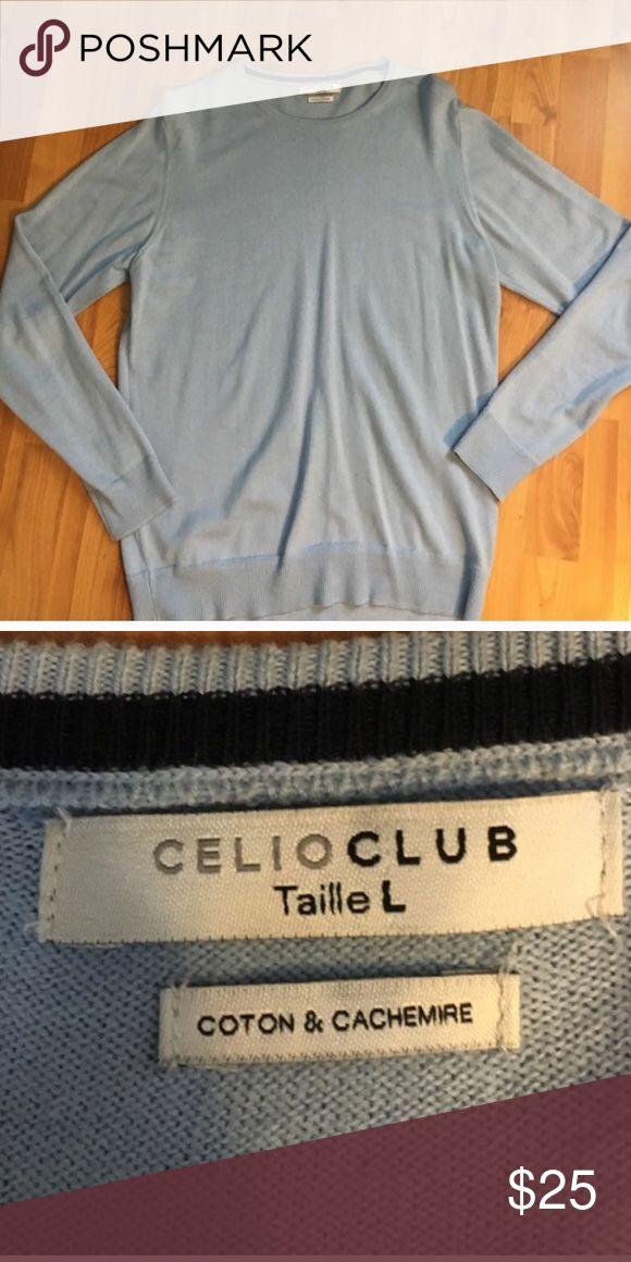 Celio Club Men's Cashmere Sweater! Celio Club Men's Cashmere Sweater! Sky blue! Super soft and comfortable! Great condition! celio club Sweaters