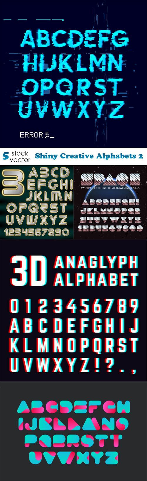 Vectors - Shiny Creative Alphabets 2