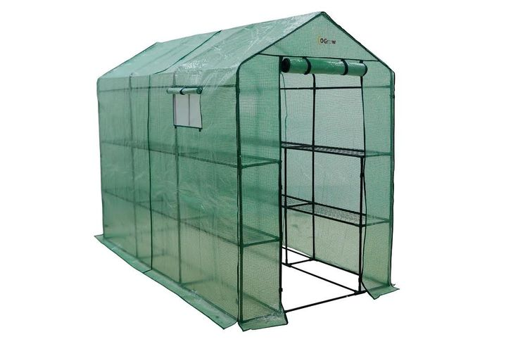 Amazon.com: Ogrow Extra Large Heavy Duty WALK-IN 2 Tier 12 Shelf Portable Lawn and Garden Greenhouse: Sports & Outdoors