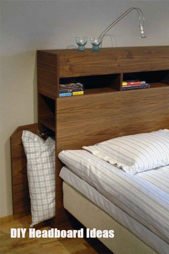 Make Your Own Headboard Diy Headboard Ideas Bed Headboard Storage Headboard Storage Headboard With Shelves