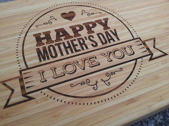 Mothers Day Bamboo Cutting Chopping Board 2 by eightONEcreations