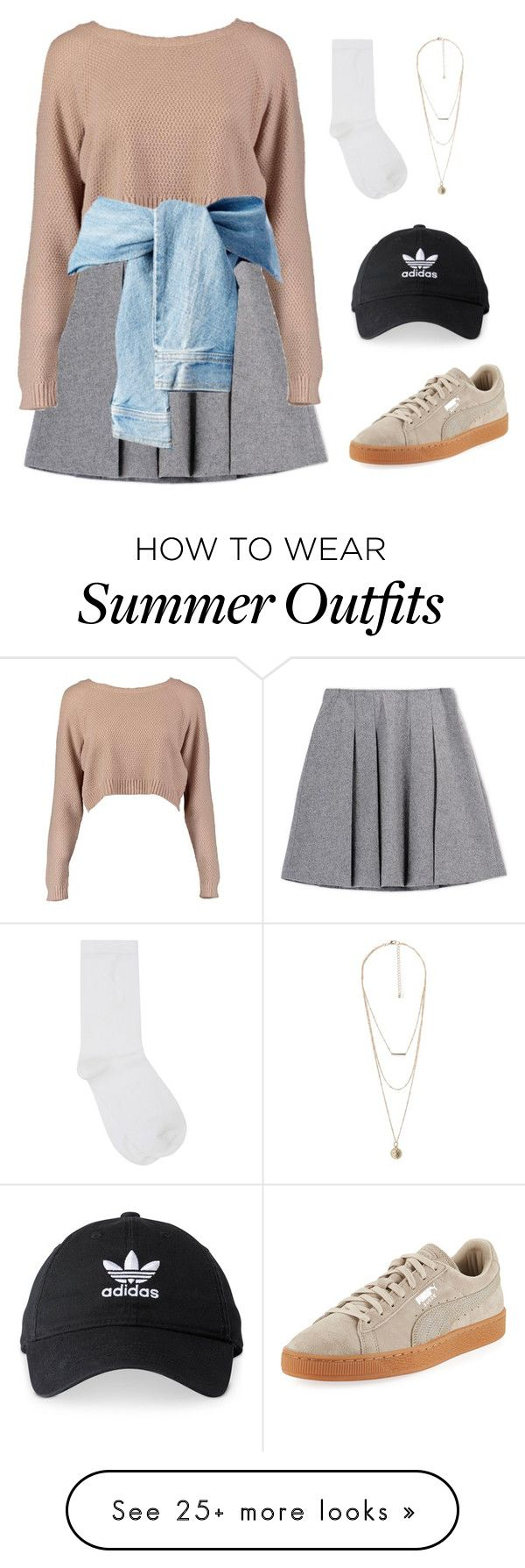 """Outfit 182"" by kittylovesxoxo on Polyvore featuring Fall Winter Spring Summer, Boohoo, M&Co, MANGO, Puma and adidas"