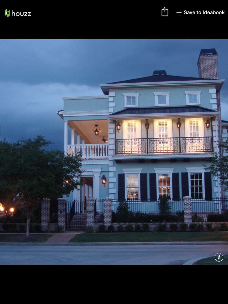Two Story Side Porch Charleston Row House Design Narrow