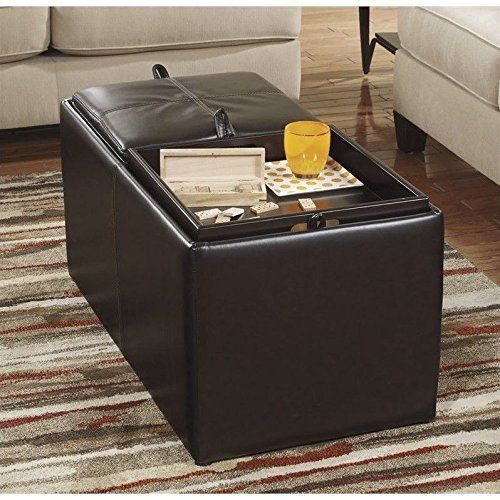 Ashley Furniture Leather Storage Ottoman With Wood ~ Best ideas about ottoman with storage on pinterest