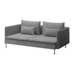 IKEA - SÖDERHAMN, 3:n istuttava sohva, Isunda harmaa, , Tähän sarjaan kuuluu erilaisia istuinosia, joita voi käyttää yksinään tai yhdistellä erilaisiksi kokonaisuuksiksi.SÖDERHAMN-sarjan istuimissa on syvä, matala ja pehmeä istuin. Irralliset selkätyynyt antavat lisätukea.Miellyttävästi joustavan pohjapunoksen ja istuintyynyjen erittäin kimmoisan vaahtomuovin ansiosta istuminen on miellyttävää.Päällinen on paksua ja erittäin kestävää kangasta, jonka elävä pinta on pehmeä ja…