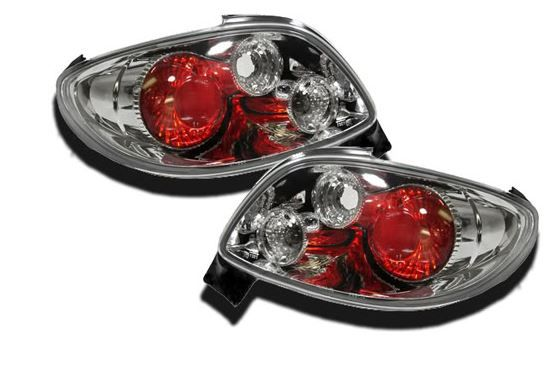 Peugeot 206 3 & 5 Door Hatchback 98-06 Chrome Lexus Rear Lights   Including indicator bulbs & holders