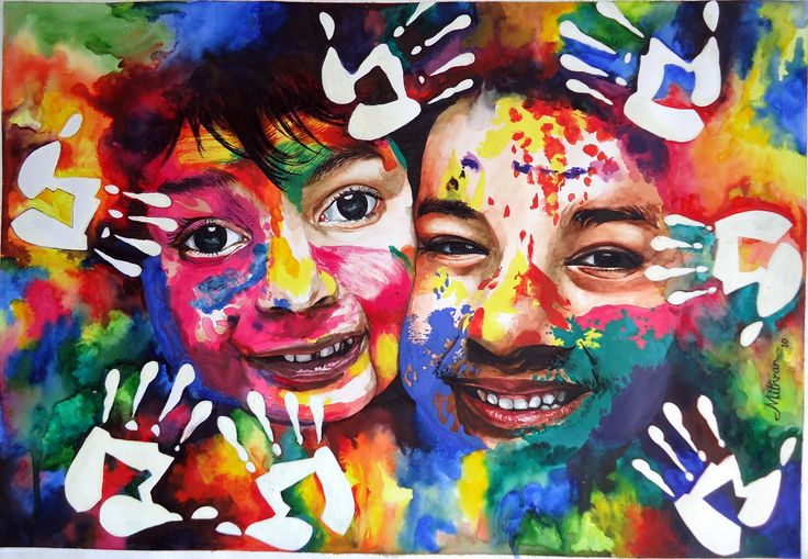 holi festival of colour painting - Google Search ...