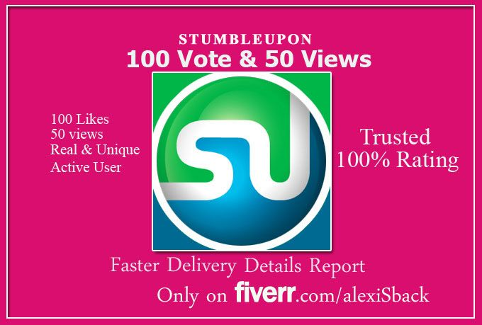 alexisback: give real 120 stumbleupon with 50 views for $5, on fiverr.com