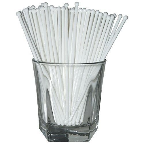 Plastic Swizzle Sticks Stirrers Set Party Drinks Cocktails Mixing 48 Count White #SwizzleSticks