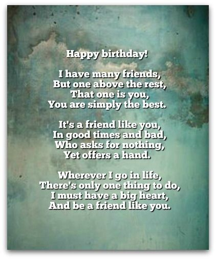 Small And Beautiful Birthday Poems For Friend 36