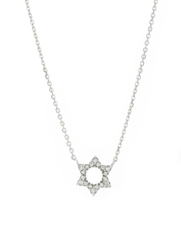 London Collection White Gold Small Star of David Pendant